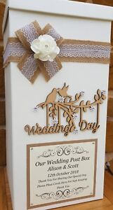 Vintage Wedding Post Box, Wedding Day Post Box, Wedding Keepsake Box