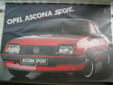 Opel Ascona Sprint brochure c1980 Swiss market