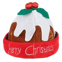 CHRISTMAS NOVELTY HAT PUDDING SANTA FUNNY FANCY DRESS XMAS OFFICE PARTY