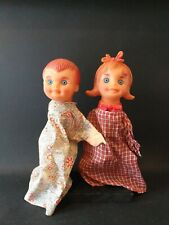 2 SCARY VINTAGE HAND PUPPETS