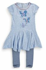 BNWT NEXT BUTTERFLY DRESS AND LEGGINGS SET SIZE 7 YEARS