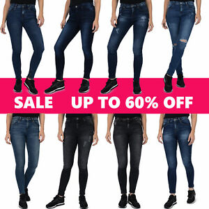 Skinny Women Jeans Stretchable Denim Pants Mid Rise Waist Various Styles UK