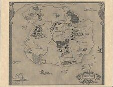 Legend Of Zelda World Map > Flyer/Poster Prop/Replica > Link > NES