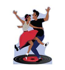 Advanced Graphics 2845 65 x 45 in. 50's Dance Couple Cardboard Cutout Standup