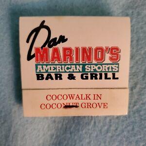 "VINTAGE - DAN MARINO ""AMERICAN SPORTS BAR & GRILLL"" MATCHES     LOOK!!"