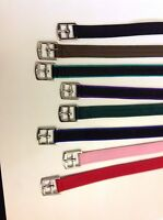 """20"""" SYNTHETIC webbing STIRRUP LEATHERS 3/4"""" WIDE (20mm) small children colours"""