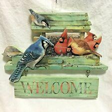 "Vintage,Hallmark,Marjolei n Bastin, ""Welcome"" Hanging plaque !"