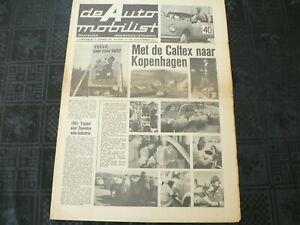 DE AUTO MOBILIST 1962 NO 13 SPRITE MK2,KIP CARAVAN,KANAALTUNNEL UK,TRAVEL SLEEPE