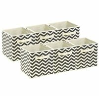 Sorbus Foldable Storage Cube Basket Bin, 6 Pack,Chevron Pattern