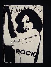 Chicks Dig Instrumental Rock Music Cute Sexy Hot Nude Chick Girl Black T Shirt L