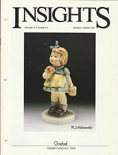 1988 goebel Collector's club Insights Magazine volume 11 number 4 winter spring