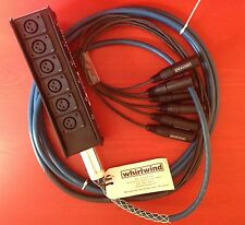 Whirlwind Medusa MINI Audio Snake: 6 inputs, 0 returns, 100 ft MS-6-M-NR-100