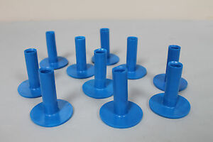 Pack of 10 Brand New Rubber Tees - Blue 60mm