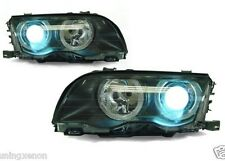 2 FEUX PHARE AVANT ANGEL EYES XENON BMW SERIE 3 E46 COUPE PHASE 1 1999 A 2003