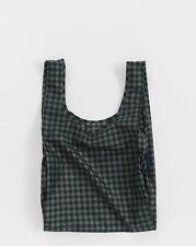 BAGGU GREEN GINGHAM Standard Size Reusable Bag - NWT - Discontinued Pattern