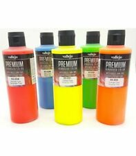 Nail Art Airbrush Paint Set  Fluorescent & Primary colours 10 x 60ml bottles
