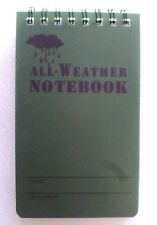 T.A.S. WATERPROOF NOTEBOOK ALL WEATHER 50 PAGE-  CADETS / HIKERS / MILITARY ETC