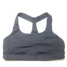 Lululemon Black Sports Bra Keyhole Racerback Womens 8 Pullover Athletic Stretchy