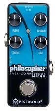 Pigtronix Philosopher Micro Electric Bass Guitar Compressor Sustain Effect Pedal
