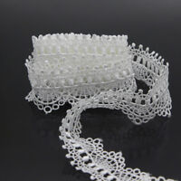 Polyester Lace Trim Applique Costume DIY Sewing Crafts Off White 3 Yards New