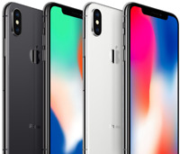 Apple iPhone X 64GB 256GB, Space Gray Silver, (CDMA + GSM) UNLOCKED