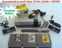 NINTENDO NES REFURBISHED CONSOLE SYSTEM GAMES SUPER MARIO +YOU PICK BUNDLE+
