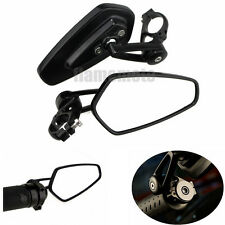 "Black Motorcycle 7/8"" Handlebar Bar End Mirrors For Ducati Triumph Honda Kawasak"