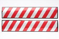 2 x XL Aufkleber 50x10 3D Hologramm Warntafel rot silber Reflektor Streifen AN21