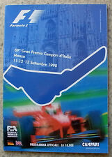 ITALIAN GRAND PRIX FORMULA ONE 1998  F1 Monza Official Programme