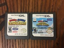 Lot of 2 Mario and Sonic Games (Nintendo DS) - Guaranteed to Work
