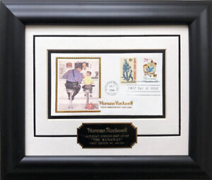 """Rockwell """"The Runaway""""  First Day Stamp Limited Edition Framed Art Police Law"""