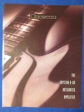 BRYSTON B-60 INTEGRATED AMP SALES BROCHURE ORIGINAL THE REAL THING