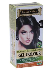 2 x Indus valley Permanent Gel 1.00 BLACK Color| Herbal Hair Color FREE SHIPPING