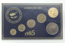 1985 Specimen Complete Coin Set Cyprus Uncirculated Coins In Packaging F836