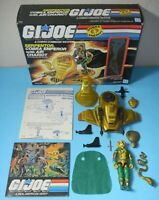 *Complete 1986 GI Joe Cobra Emperor Serpentor & Air Chariot in Box w/ Blueprints
