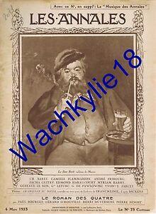 Les annales n°2071 du 04/03/1923 Le bon bock Manet Ruhr Aciéries