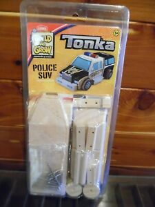 TONKA Build and Grow Wooden Police SUV By LOWE'S HASBRO NEW!