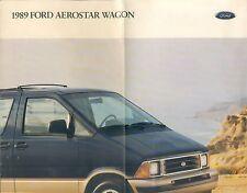 Ford Aerostar Wagon Prospekt USA 1989 brochure Auto PKWs Autoprospekt Broschüre