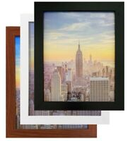 box Frame Amo Black Wood Picture Frame or Poster Frame, 1 Inch Wide, Refurbished