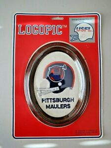 Vintage USFL Pittsburgh Maulers Football Patch Framed  NOS  NEW IN PACK