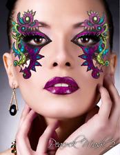 Xotic Exotic Eyes Peacock Glitter Crystal Stick Body/Face Tattoo Mardi Gras Mask