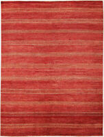 9X12 Hand-Knotted Oushak Carpet Traditional Red Fine Wool Area Rug D46468