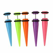 5pcs Colorful Fake Cheater Ear Taper Stretcher Expander 2G J4P3