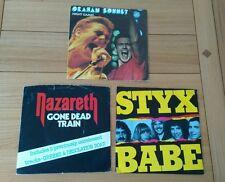 "Hard Rock Job Lot 3x UK 7"" Singles Graham Bonnet Night Games Nazareth Styx Babe"