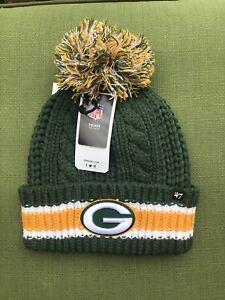 NWT Green Bay Packers Women's 47 Brand Dark Green Sorority Cuff Knit Hat Winter