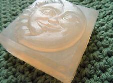 Unscented Glycerin Soap-Handmade Moon & Sun Square Bar-Biodegradable Shrink Wrap
