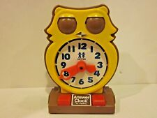 Vintage 1975 Tomy OWL Answer Teaching Clock ~ Learn to tell time~Home School ESL