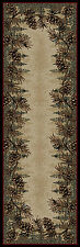 """2x8 (2'3"""" x 7'7"""" ) Lodge Cabin  Pinecone Runner Area Rug  **FREE SHIPPING**"""