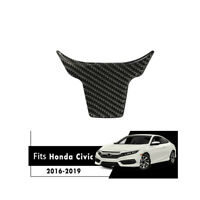 1X Carbon Fiber Inner Steering Wheel Panel Trim For Honda Civic 10th Gen 2016-19