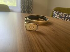 New! 100% Authentic Tory Burch Gold  Logo Belt Small